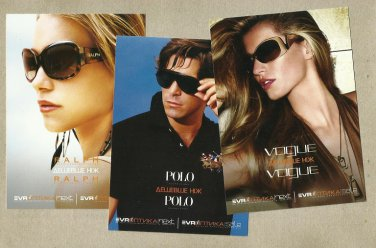 RALPH LAUREN VOGUE POLO SUNGLASSES ADVERTISING POSTCARDS