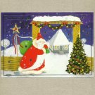 MOLDOVA SANTA CLAUS CHRISTMAS GREETINGS POSTCARD ISSUED BY THE MOLDOVAN POST OFFICE