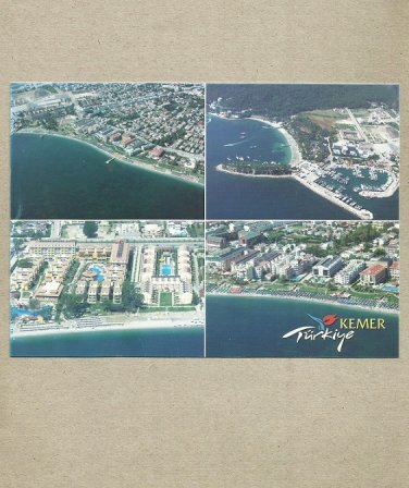KEMER TURKEY MULTIVIEW TURKISH CITY POSTCARD