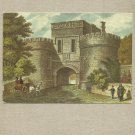 SKIPTON CASTLE IN 1829 POSTCARD with FIRST CLASS STAMP AND CANCELLATION FROM 2009