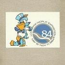 1984 NEW ORLEANS LOUISIANA WORLD EXPOSITION SEYMOUR D FAIR MASCOT UNUSED POSTCARD