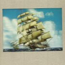 TALL SHIPS 3D HOLOGRAM POSTCARD FROM JAPAN
