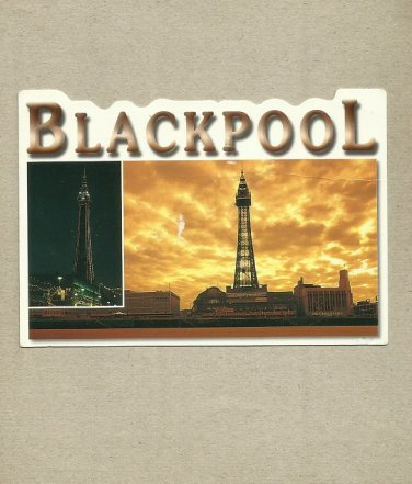 BLACKPOOL TOWER POSTCARD WITH FIRST CLASS STAMP AND CANCELLATION 2010