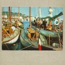 CALAIS HARBOUR FISHING BOATS POSTCARD WITH STAMP AND CANCELLATION 1970