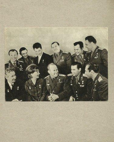 SOVIET COSMONAUTS ASTRONAUTS TERESHKOVA GAGARIN GROUP MOST FAMOUS COSMONAUTS POSTCARD 1969