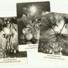 THREE VINTAGE CRISTMAS AND NEW YEAR GREETINGS CARDS FROM THE DDR FORMER EAST GERMANY