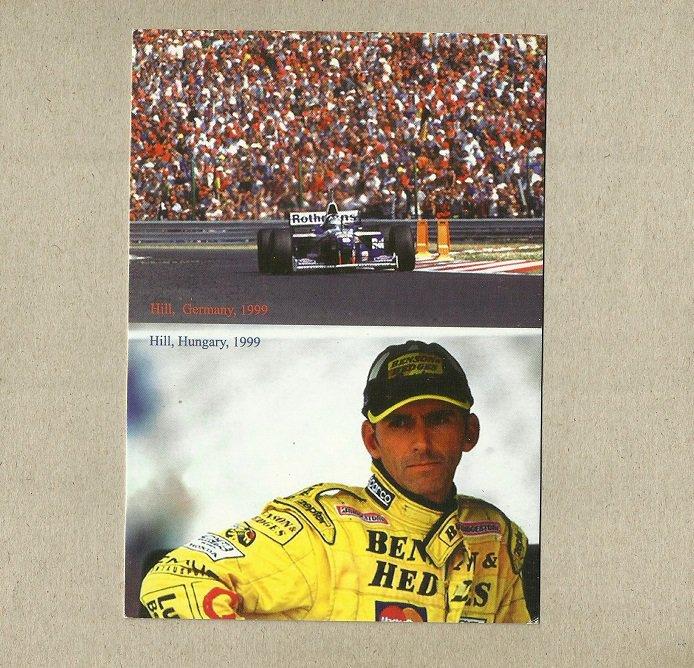 DAMON HILL FORMULA ONE F1 FUNGARY 1999 POSTCARD