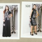 SOLH FASHION HOUSE PAIR ADVERTISING POSTCARDS WITH INTERNATIONAL SIZE CONVERSION CHART