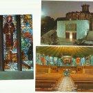 IGLESIA LA PORCIUNCULA CHURCH MAJORCA SPAIN THREE POSTCARDS