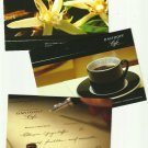 DAVIDOFF CAFE THREE UKRAINIAN LANGUAGE ADVERTISING POSTCARDS