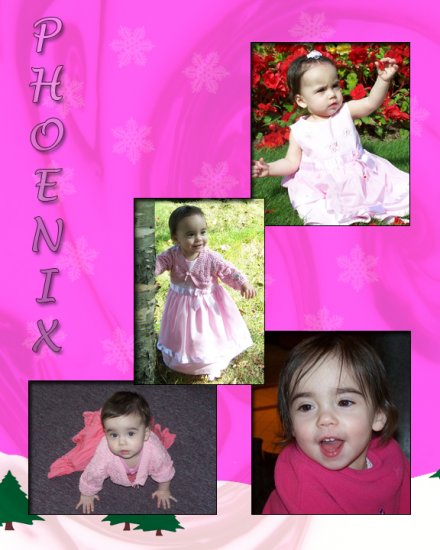 8x10 Personalized 4 Picture Collage for a girl