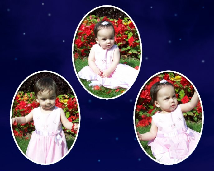 3 Picture Collage with Dark Blue background and white stars