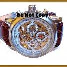 NEW Mens CTI 21 Jewels Swiss Automatic 18K Skeleton Leather Watch