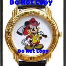 NEW Disney Limited Edition Mickey Mouse Fireman Firefighter Watch