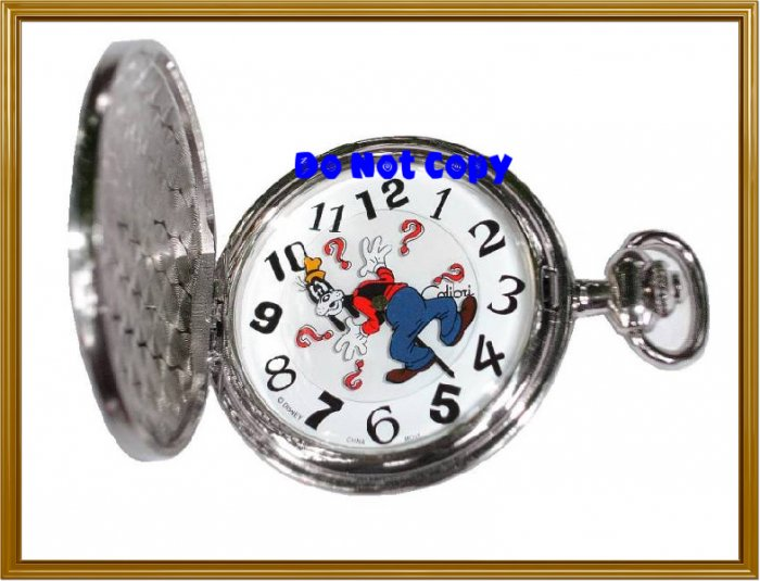 BRAND NEW Disney Goofy Rotates Colibri Pocket Watch HTF