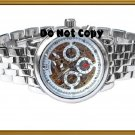 NEW Mens CTI 21 Jewels Swiss Automatic 18K Skeleton Watch