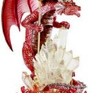 NEW Dragon Guardian Fiery Dragon Crystalline Base Statue