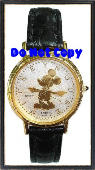 NEW Vintage Disney/Lorus Mickey Mouse Gold Silhouette Watch HTF