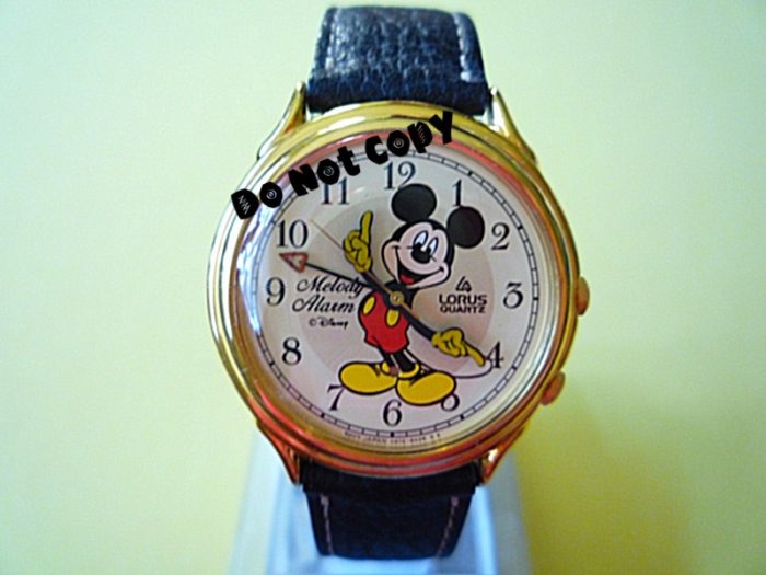 NEW Disney/Lorus Mickey Mouse Alarm Melody Watch HTF