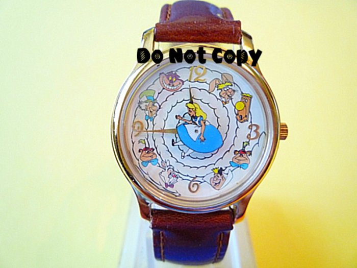 NEW Vintage Alice In Wonderland Characters Watch HTF