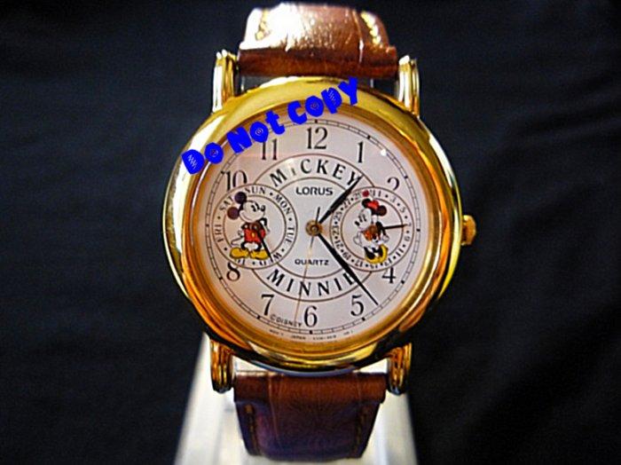 NEW Vintage Disney/Lorus Mickey & Minnie Mouse Watch