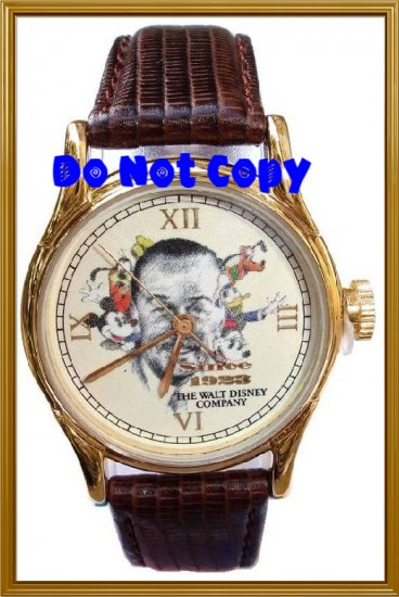 Mens Walt Disney Mickey, Minnie, Goofy, Pluto Watch Limited Edition