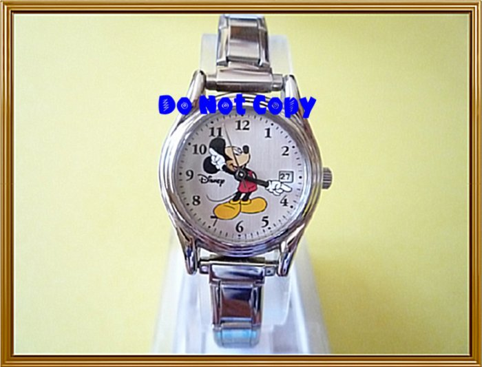 NEW Disney/Seiko Mickey Mouse Italian Charm Watch HTF