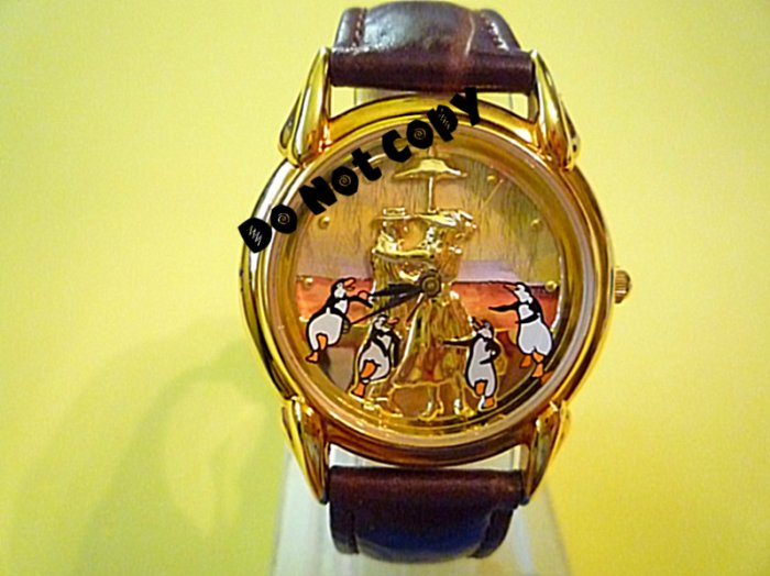 NEW Disney Mary Poppins Limited Edition Gold Watch HTF