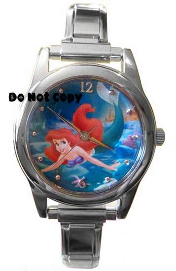 NEW Disney Little Mermaid Ariel Italian Charm Watch HTF Retired
