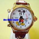 NEW Disney/Lorus Mickey Mouse Alarm Chime TimeWatch HTF Vintage