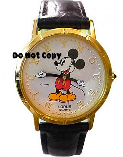 NEW Vintage Disney/Lorus Mickey Mouse Pie Eye Unisex Watch HTF