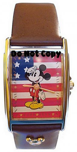 NEW Unisex Disney Mickey Mouse American Flag Watch HTF