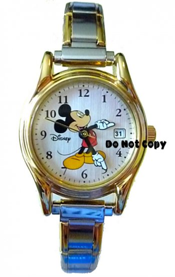 NEW Disney Seiko Mickey Mouse Italian Charm Date Watch