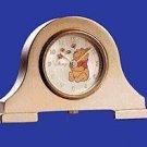 BRAND NEW Disney Winnie The Pooh Mini Mantle Gold CLock