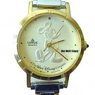 NEW Disney Lorus Mickey Mouse Italian Charm Gold Watch