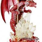 NEW Dragon Guardian Fiery Red Dragon Crystalline Statue