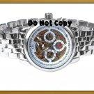 NEW Mens CTI 21J Swiss Automatic 18K Skeleton Watch