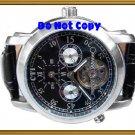 NEW Men CTI 27Jewels Multifuction Dual Timer AUTO Watch