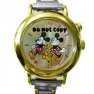 Disney Mickey Minnie Mouse Italian Charm Musical Watch