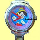 BRAND NEW Disney Italian Charm Silver Pinocchio Watch
