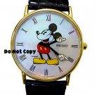 NEW Ladies Disney Mickey Mouse 14K PIE EYED SEIKO Watch