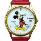 BRAND NEW Mens Disney Mickey Mouse SEIKO Date Watch HTF