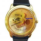 NEW Ladies Disney Mickey Mouse SEIKO Medallion Gold Limited Watch
