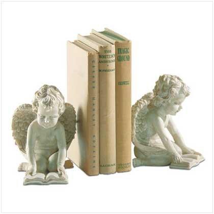 Exquisite Reading Cherub Bookends