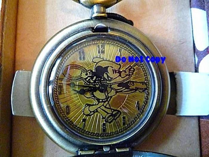 NEW Disney Mickey Mouse Rodeo Western Pocket Watch LTD