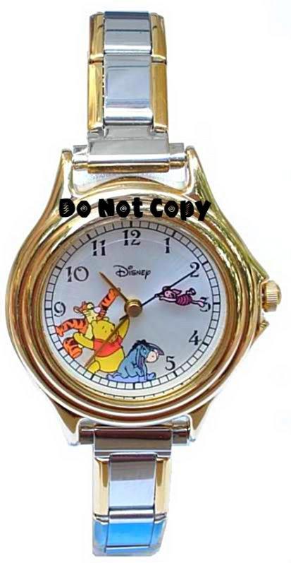 NEW Disney Winnie Tigger Eeyore Piglet Italian Charm Watch