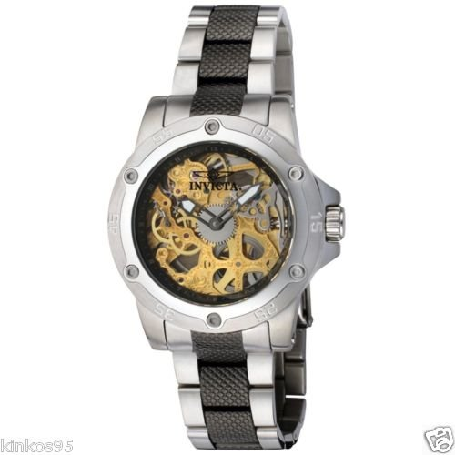 NEW Mens Invicta Collection Skeleton Mechanical Stainless Steel Watch