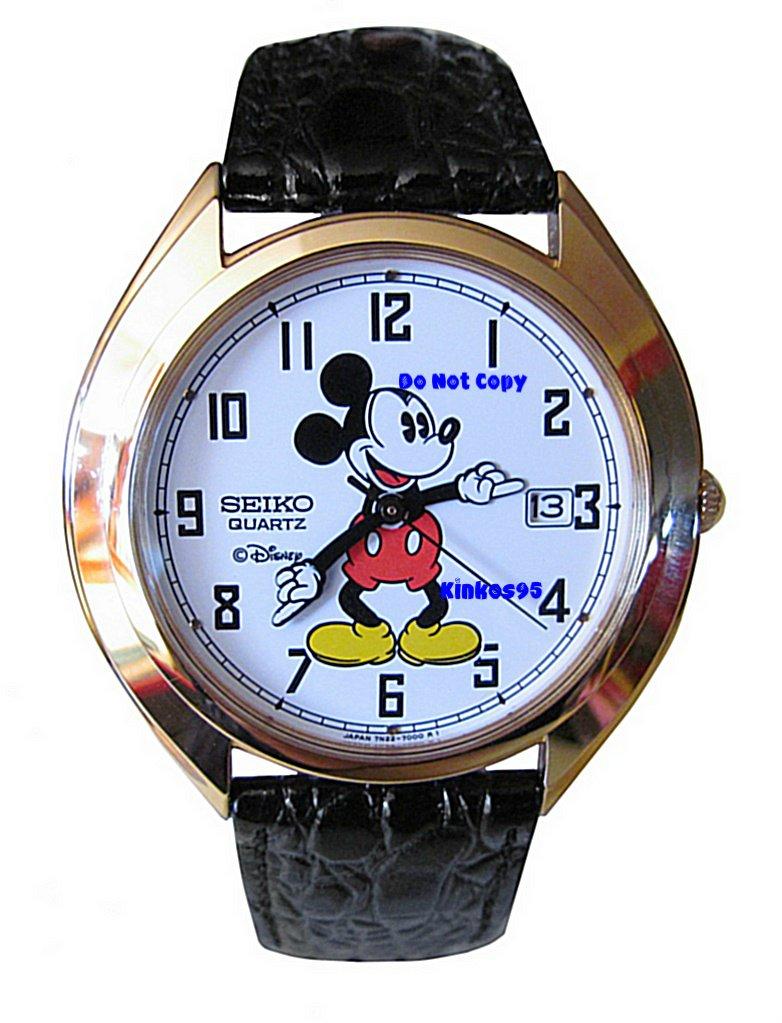 NEW Men's Disney Mickey Mouse SEIKO Date Watch HTF