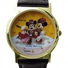 NEW Disney Mickey & Minnie Mouse Skating Christmas Holiday Watch HTF