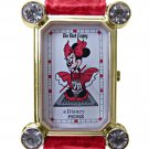 NEW Disney Pedre Minnie Mouse Marilyn Monroe Red Dress Watch HTF